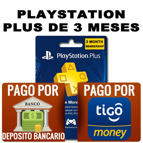 playstation plus de 3 meses