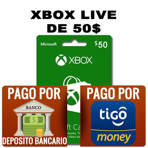 xbox live de 50$