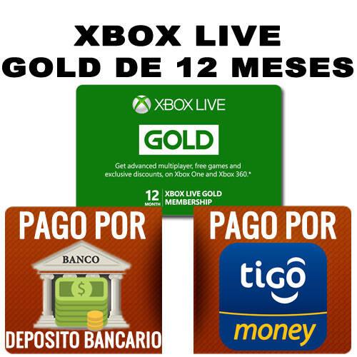 xbox gold de 12 meses