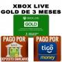 xbox gold de 3 meses